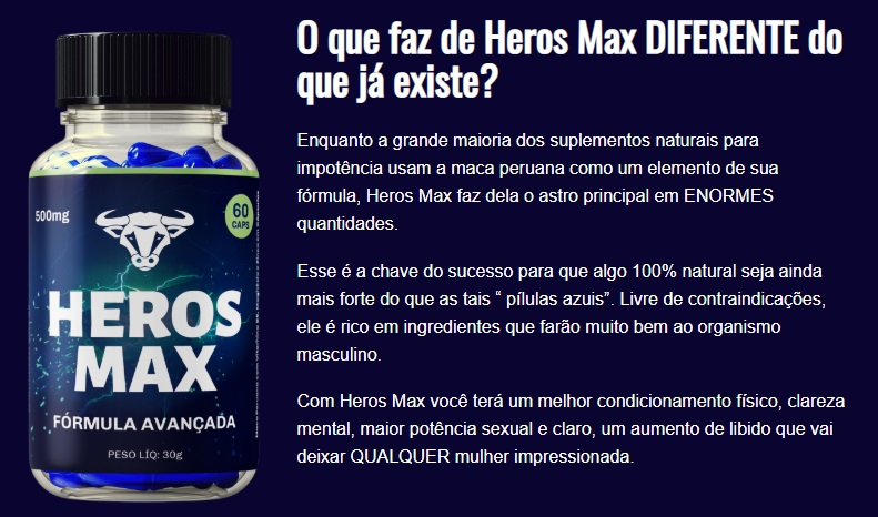 heros max composicao