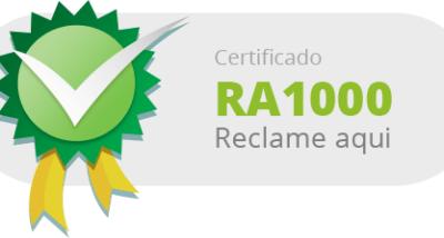 reclame aqui certificado 100